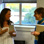 conference organizer Kathryn Hale and SPA president Claudia Strauss