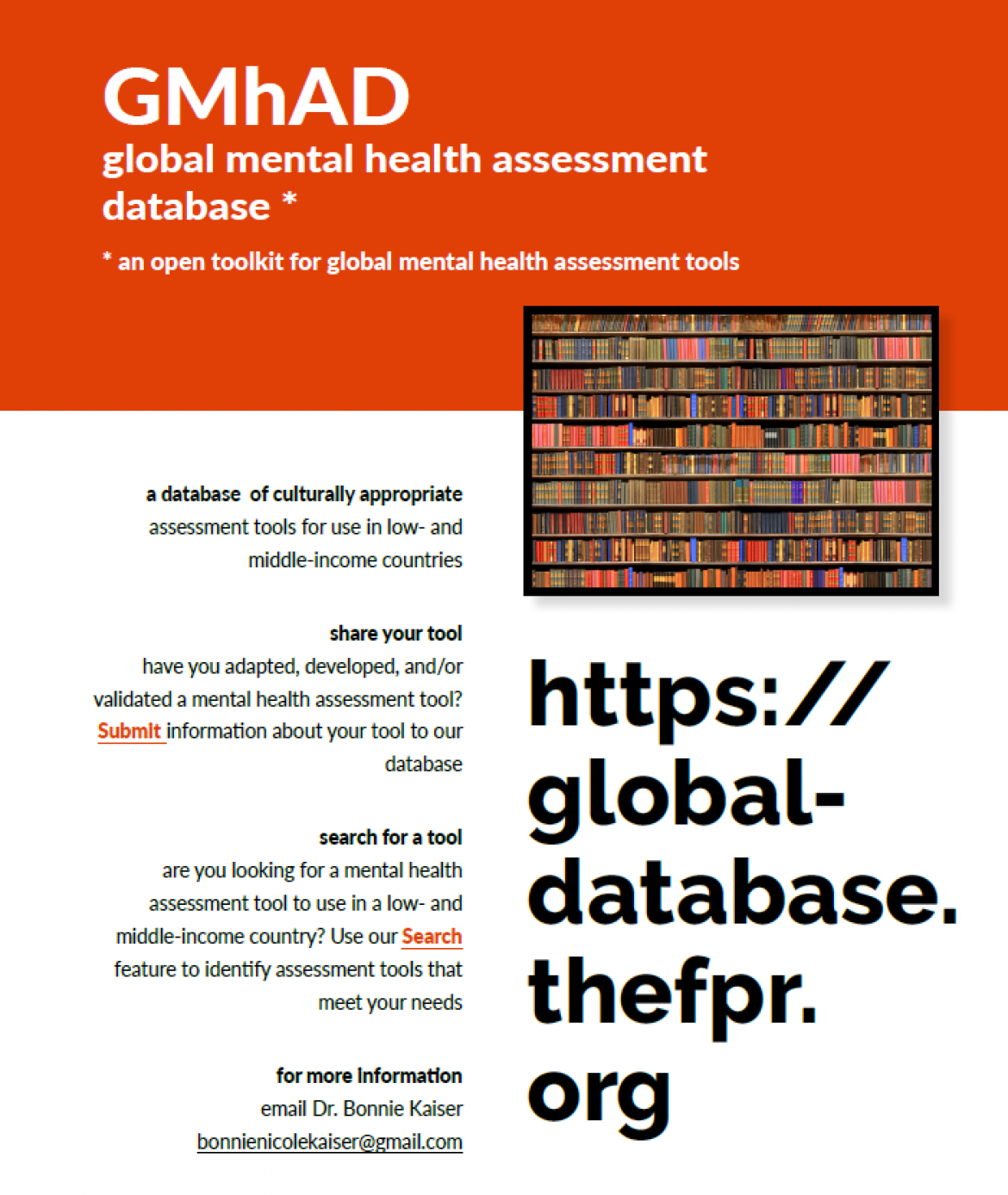 Global Mental health Assessment Database (GMhAD) launch